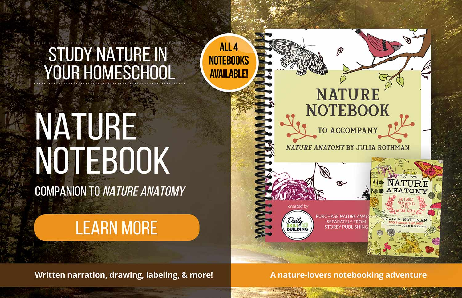 Daily Skill Building Nature Notebook Advertisement