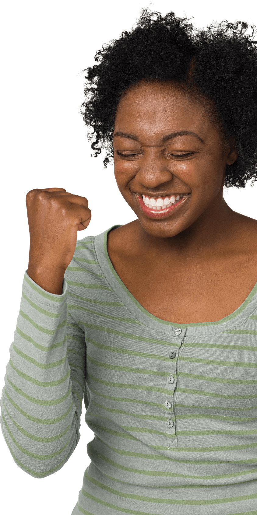 woman showing excited emotion